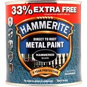 Hammerite Hammered Paint Black+33% 750ml (5158237)