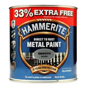 Hammerite Smooth Paint Silver+33% 750ml (5158234)