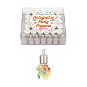 Henbrandt Silver Holographic Party Poppers 72s (X39088)