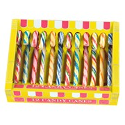 Box Of 12 Assorted Flavour Candy Canes 170g (HM518)