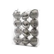 Iron Christmas Bells 12s Silver 4cm (385117)