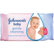 Johnsons Baby Gentle Cleansing Wipes 56s