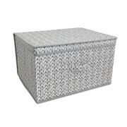 Jumbo Storage Chest Knit Grey (STO167355)