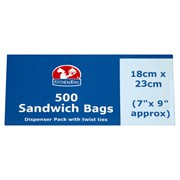Kitchen King Sandwich Bags 500s (0468)