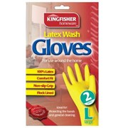 Kingfisher Household Gloves 2s Large (KGH3)