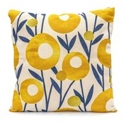 Nordic Flowers Scatter Cushion - Lemon Yellow (LGSC1907)