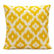 Ikat Diamonds Scatter Cushion - Lemon Yellow (LGSC1908)