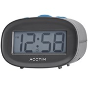 Libra Lcd Alarm Clock Grey (15537)