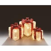 Premier Light Up Presents Red/white Setx3 Large (LV102703R)