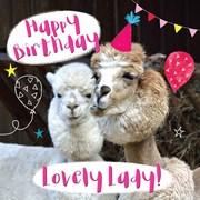 Alpaca Family Card (LL0090W)