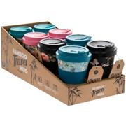 Bamboo Travel Mug Florals 4 Asstd (LP87011)
