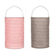 B/o Paper Lantern Pink And Grey 20cm (LT194140)