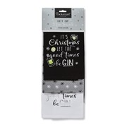 Cooksmart Let The Good Times Be Gin Tea Towels 3pk (1143)