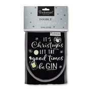 Cooksmart Let The Good Times Be Gin Double Oven Glove (1142)