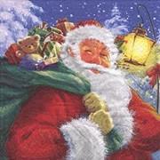 Lunch Napkin Trad Santa 20s (PJ303517)