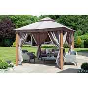 Norfolk Leisure Luxury Gazebo With Interior Led Lights Taupe 3x3m (84900)