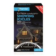 Premier 360 Led Snowing Icicles W/timer  Warm White (LV162183WW)