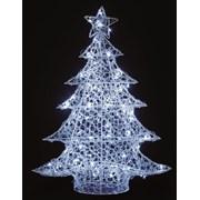 Lit Soft Acrylic Christmas Tree White 1m (LV191185W)