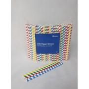 Jumbo Paper Straws Multi Coloured 225mm 250s (MCJPS25012)