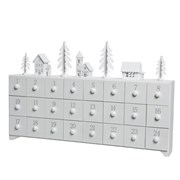 Mdf White Advent Calendar With Trees (550677)