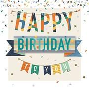 Birthday Bunting Card (MEE30012)