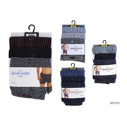 Rjm Mens 3 Pack Jersey Boxer Short (BR167B)