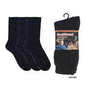 Mens 3pk Heatguard Thermal Socks (SK030BK)