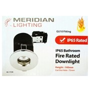 Meridian Gu10 Downlight Ip65 Rated Silver Chrome (ML17598)
