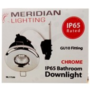 Meridian Gu10 Downlight Ip65 Rated Chrome (ML17599)