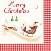 Lunch Napkins Merry Xmas Santa 20s (PJ312199)