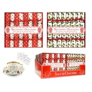 Mini Red & White Saucer Crackers 8s (XM4662)