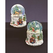 Musical Waterglobe Child With Sleigh 10cm (LB171533)