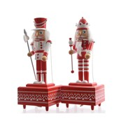 Musicbox Nutcracker Red/white 30cm (552345)