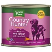 natures:menu Country Hunter Dog Food Cans Wild Venison 600g (NMCVB)