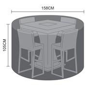 Nova Bar Set Cover 4 Seat Round