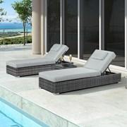 Nova Rimini Sun Lounger Set Grey