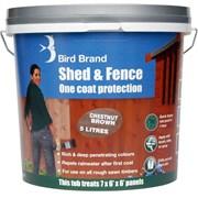 Bird Brand Shed&fence Chestnut 5lt (0070)