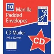 Office Style Padded Envelopes Gold Cd (STA064)