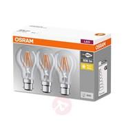 Osram B40 5 7w B22d Warm White Bulbs 3pc (96151)