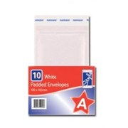 O'style Padded Wht Envlpe 100x165mm A (STA044)