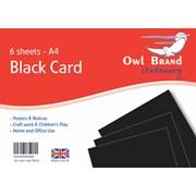 Owl Brand Black Card 6sheet A4 (OBS06)