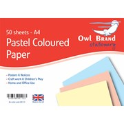 Owl Brand Pastel Paper 50sheet A4s (OBS113)