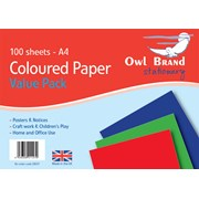 Paper Big  Coloured Sheet 100sht (OBS07)