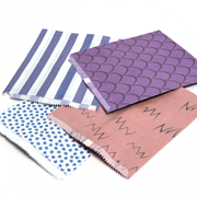 "Patterned Paper Bags Blue 500s 10x14"" (1014BS)"