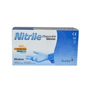Medirite Nitrile Powder Free Gloves Blue 100s Med (103484-GP0032)