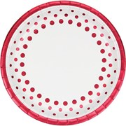 Dinner Plates Foil Sparkle & Shine Ruby 8s (PC317853)