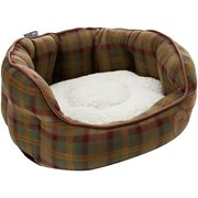 Petface Country Checkoval Bed Med (15073)