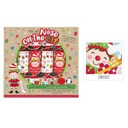 Pin The Nose On The Elf Game Crackers 6s (XM4652)