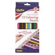 Helix Full Length Colouring Pencils 12s (PN3010)