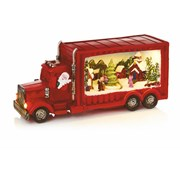 Premier Red Truck With Rotating Tree 33.5cm (LB184681)